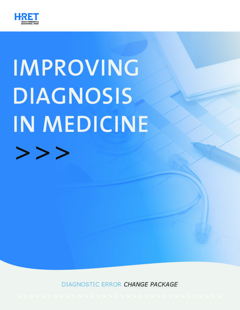 Improving Diagnosis in Medicine Change Package Cover