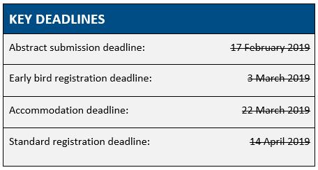 AusDEM Key Deadlines