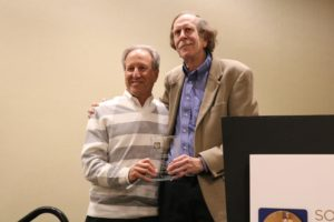 Gordy Schiff recieving the Mark Graber Award
